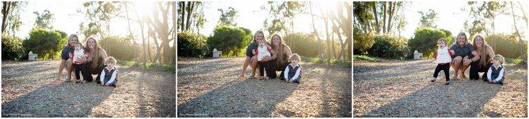 Cute Family on the chip trail Manhattan Beach