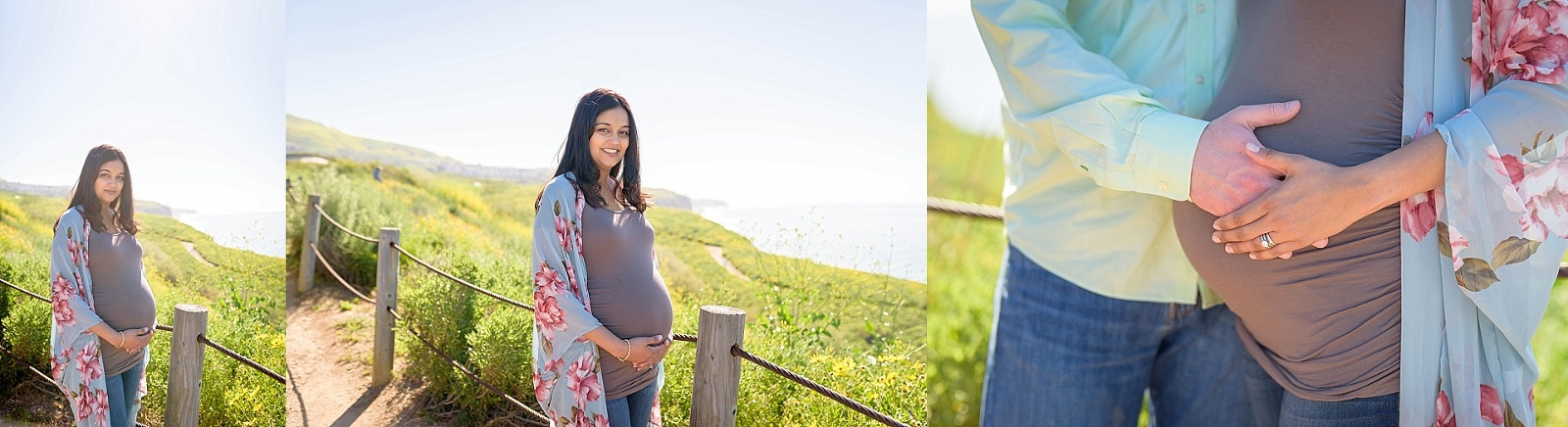 kimono over shirt for maternity photos